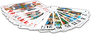 Tarot playing cards